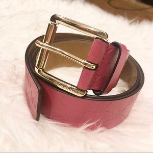 Soft pink MK belt